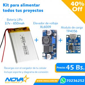 Kit Baterlia Lipo + Modulo...